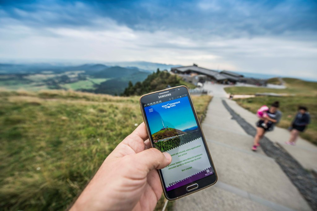 beacon application audioguide au sommet du puy de dome
